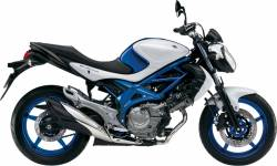 Suzuki Gladius SFV 650 white/blue replacement graphics