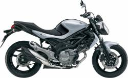 Suzuki Gladius SFV 650 2013 L3 silver replica adhesives