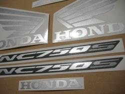 Honda NC 750S 2016 black model replacement stickers
