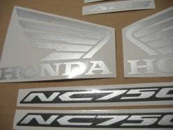Honda NC 750S 2016 black model replacement decals
