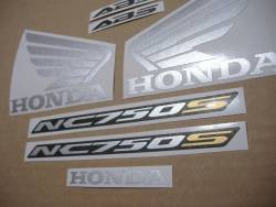 Stickers set for Honda NC750S 2016 black-red version