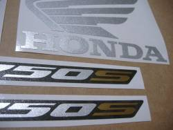 Adhesives for Honda NC750S 2016 black-red livery