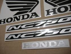 Decal set for Honda NC750S 2018 red livery
