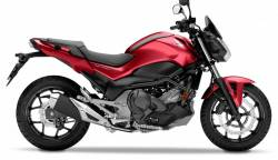 Honda NC750S 2018 red replacement decal kit