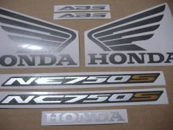 Honda NC750S 2017 black model logo emblems set