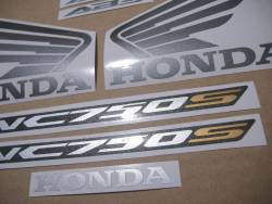 Honda NC750S 2017 black model logo stickers kit