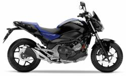 Honda NC 750S 2017 black/blue model logo decals