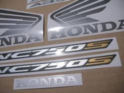 Honda NC 750S 2017 autocollantes/labels set