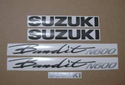 Decals for Suzuki Bandit GSF N600 1995 red naked model