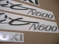 Decals for Suzuki Bandit GSF600N 1996 red naked version
