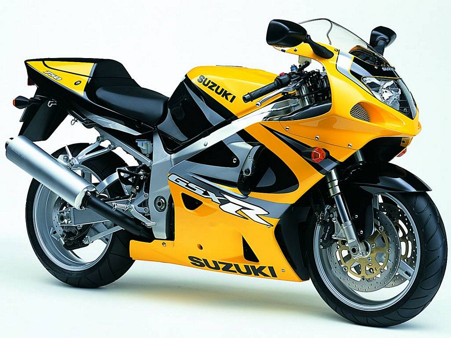 Suzuki GSX-R 750 2000 (K0) 2001 decals set - yellow/black version - Moto-Sticker.com