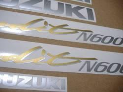 Suzuki Bandit GSF 600N 1997-1998 restoration graphics
