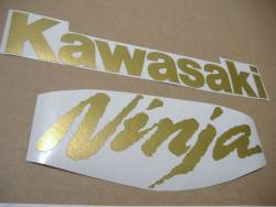 Kawasaki ZX-10RR aftermarket gold race replica decal set