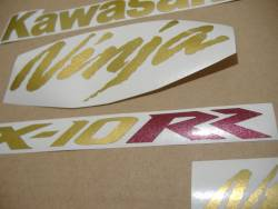 Stickers for Kawasaki ZX10RR Ninja race replica in gold