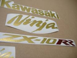 Graphics for Kawasaki ZX10RR Ninja race replica in gold