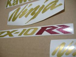 Adhesives for Kawasaki ZX10RR Ninja race replica in gold