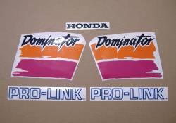 Decals for Honda Dominator NX650 1991 white model