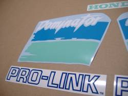 Honda Dominator NX 650 1991 blue/green replacement graphics
