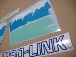 Honda NX Dominator '91 blue/green replacement decal set