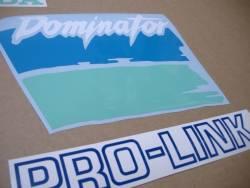Honda NX Dominator '91 blue/green replacement sticker set