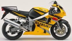 Suzuki 750 2002 yellow complete sticker kit