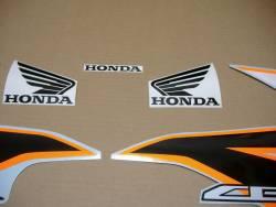 Stickers for Honda CBR 125R 2011 orange/silver model