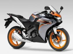 Honda CBR 125R 2011 orange/silver reproduction decals