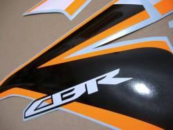 Honda CBR 125R 2011 orange/silver replacement decals