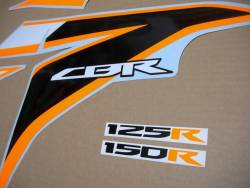 Adhesives for Honda CBR 125R 2011 orange/silver model