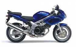 Graphics for Suzuki SV650S K2 blue half-fairing version