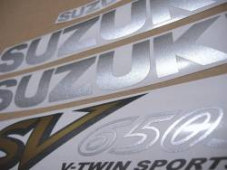 Stickers for Suzuki SV 650S 2002 black half-fairing model