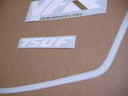 Honda VFR 750f '88 red model complete decal set