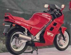 Honda VFR 750 F 1989 red aftermarket stickers set