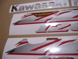 Logo emblems for Kawasaki ZZR 1200 silver 2002 model