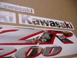 Decals for Kawasaki ZZR 1200 silver 2002 model