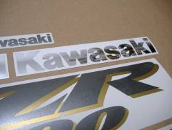 Decals for Kawasaki ZZR1200 2004 grey (complete set)