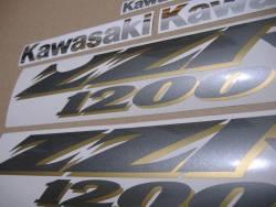 Kawasaki ZZR 1200 2004 complete replica adhesives