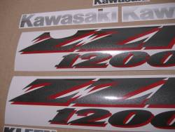 Kawasaki ZZR 1200 2003 full reproduction graphics set