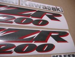 Kawasaki ZZR 1200 2003-2004 aftermarket decals set