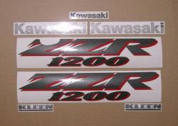 Kawasaki ZZR 1200 2003 full reproduction sticker set