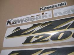Kawasaki ZZR 1200 2003-2004 blue model decals kit