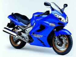 Kawasaki ZZR 1200 2003-2004 blue version graphics set