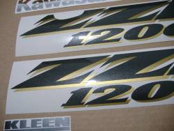 Decals for Kawasaki ZZR 1200 black 2004 version