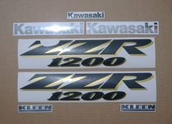 Kawasaki ZZR 1200 black model complete stickers set