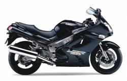 Kawasaki ZZR 1200 black model complete graphics set