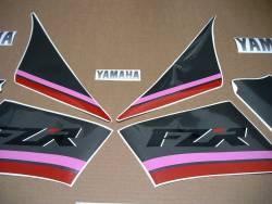 Yamaha FZR 1000 Exup 1991-1992 3LE complete decal set