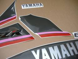 Stickers for Yamaha FZR 1000 Exup 1991 3LE black model
