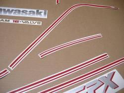 Kawasaki GPX 750R 1986 black model version adhesives