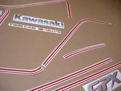 Kawasaki GPX 750R 1986 black model version stickers