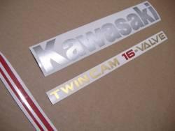 Kawasaki GPX 750R 1986-1987 restoration graphics set